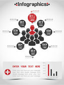 MODERN INFOGRAPHIC BUSINESS PEOPLE ICON MAN STYLE 2 — Cтоковый вектор