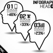 INFOGRAPHIC HEAD STYLE 2 — Stockvectorbeeld