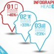 INFOGRAPHIC HEAD STYLE 2 BLUE — Stockvectorbeeld