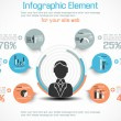 INFOGRAPHIC MODERN PEOPLE BUSINESS NEW STYLE — Grafika wektorowa