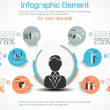 INFOGRAPHIC MODERN PEOPLE BUSINESS NEW STYLE — Stockvectorbeeld