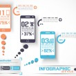 INFOGRAPHIC MODERN STYLE MOBILE 2 — Stockvectorbeeld