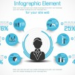 INFOGRAPHIC MODERN PEOPLE BUSINESS NEW STYLE 2 — Grafika wektorowa
