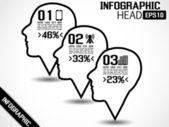 信息图表头样式 2 — 图库矢量图片