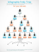 INFOGRAPHIC FAMILY TREE — Stock Vector