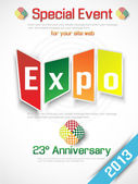 EXPO 2013 ANNUAL EVENT ADVERTISING — Stock Vector