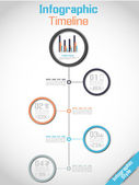 INFOGRAPHIC TIMELINE MODERN CONCEPT — Stock Vector