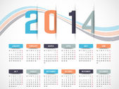 CALENDAR 2014 SIMPLE TEXT BACKGROUND — Stock Vector