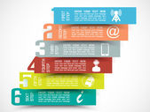 INFOGRAPHIC NUMBER OPTIONS TEMPLATE NEW STYLE 3 — Stok Vektör