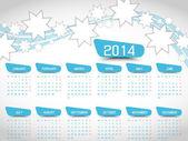 CALENDAR STAR 2014 SIMPLE TEXT BACKGROUND — Stok Vektör