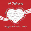 VALENTINE'S DAY BACKGROUND 4 — Stock Vector