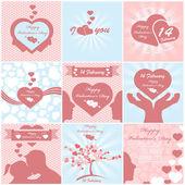Valentýna pozadí mega kolekce — Stock vektor