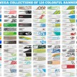 MEGA COLLECTION OF 120 COLORFUL BANNER — Vecteur #39005087