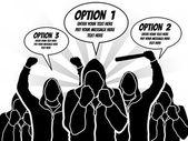 BUSINESSMAN OPTION TEMPLATE STEP RANKING 4 — Stock Vector