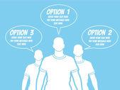 BUSINESSMAN OPTION TEMPLATE STEP RANKING BLUE 2 — Vector de stock