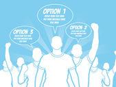 BUSINESSMAN OPTION TEMPLATE STEP RANKING BLUE 3 — Vector de stock