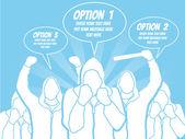 BUSINESSMAN OPTION TEMPLATE STEP RANKING BLUE 4 — Vector de stock