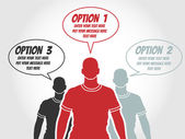 BUSINESSMAN OPTION TEMPLATE STEP RANKING RED 2 — Vector de stock