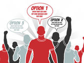 BUSINESSMAN OPTION TEMPLATE STEP RANKING RED 3 — Vector de stock