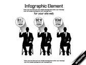 Negócios homem moderno infográfico preto 7 — Vetorial Stock