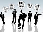 BUSINESSMAN CONCEPT OPTIONS — Cтоковый вектор