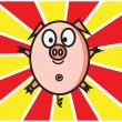 Happy Pig — Stock Vector