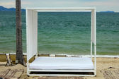 Beach Beds — Stock Photo