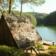 Bamboo Hut On The Lake - Stock Photo