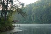 Bamboo Hut On The Lake — Stock Photo