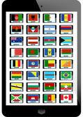 Set of flag — Stock Vector