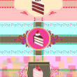 Set of cake cards template — Stock Vector