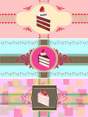 Set of cake cards template — Stockvector