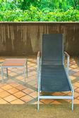 Swimming Pool Sun Lounger — Stock Photo
