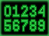Green numner — Stock Vector