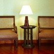 Classic armchair and lamp. — Stock Photo #32625997