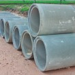 Stacked concrete drainage pipes — Stock Photo #32730875
