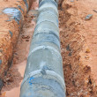 Stock Photo: Concrete drainage tank on construction site