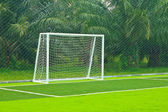 A soccer net — Stock Photo