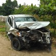 Stock Photo: Damaged vehicle after car accident