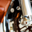 Motorcycle wheel hub — Stock Photo