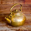 Stock Photo: A brass Kettle