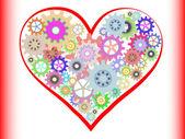 Heart gear — Stock Vector