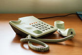 Modern white telephone — Stock Photo