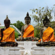 Three Buddhin temple — Stock Photo #39287185