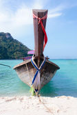 Traditional long tail boats — Stock Photo