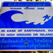 Tsunami Evacuation Sign — Stock Photo