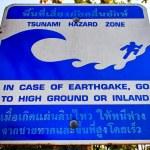 Tsunami Evacuation Sign — Stock Photo #40130037