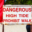 Stock Photo: Beach tide sign