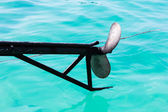 Propeller of boat transport travel — Stock Photo