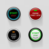 Start stop engine buttons — Stock Vector
